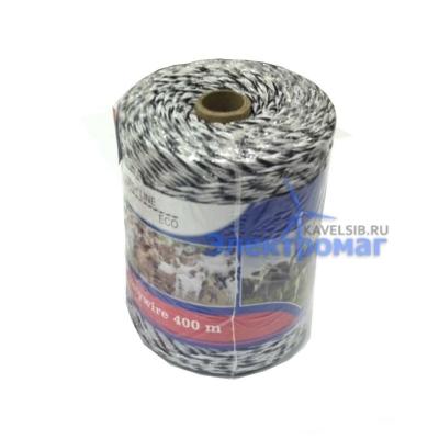 Веревка для электропастуха, бухта 400м, 3*0,3 мм