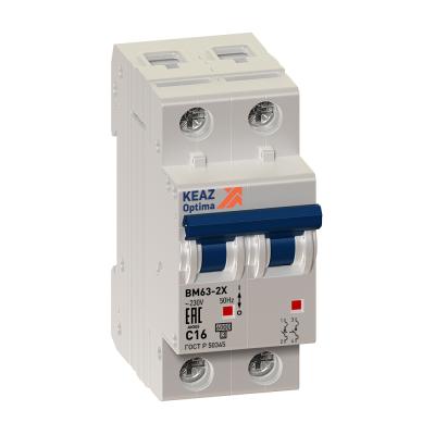 Выключатель автоматический модульный OptiDin BM63-2C25-УХЛ3 (ВМ63)