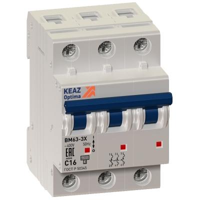 Выключатель автоматический модульный OptiDin BM63-3C40-УХЛ3 (ВМ63)