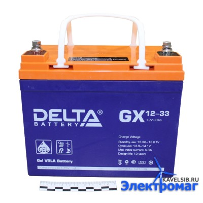 Аккумуляторная батарея GX 12-33 Delta