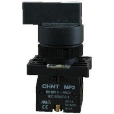 Переключатель NP2-EJ25,  2 положения с фиксацией,  1НЗ +1НО IP40  (CHINT)