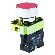 Кнопка управления NP2-BA45 без подсветки  красная,  1НЗ +1НО IP40  (CHINT)