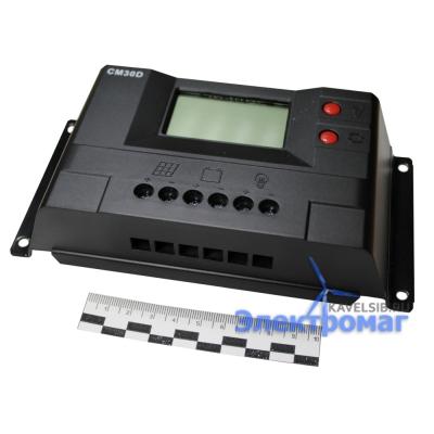 Контроллер для солнечных батарей CM30 30A 12V/24V auto switch