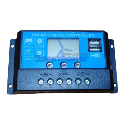 Контроллер заряда JUTA DY1024DU 10А (12В,24В) LED USB-выход