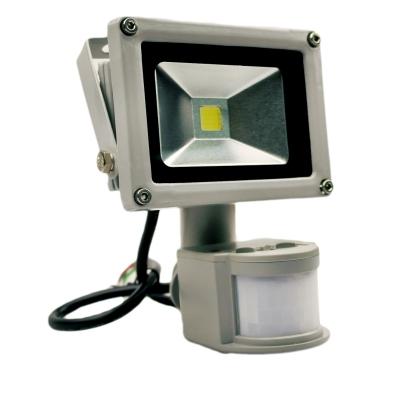 Светодиодный прожектор 10 ватт 220В с датчиком движения
