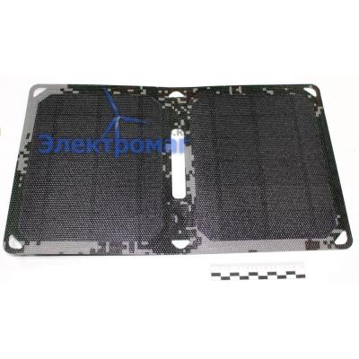 Раскладная солнечная панель Exmork C15W 5В 2xUSB(камуфляж)