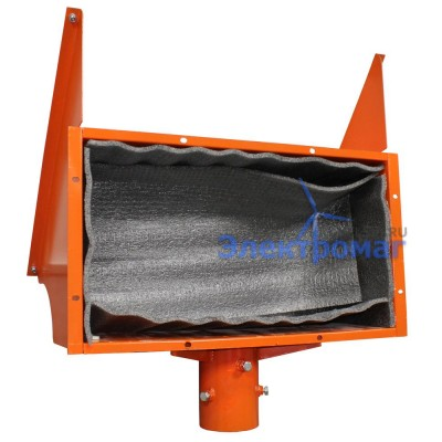 Кронштейн для солнечной батареи и аккумулятора на столб (оранжевый)