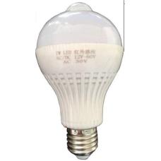 Светодиодная лампа 7Вт 12В с датчиком движения и света