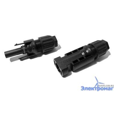 Коннектор для солнечных батарей стандарт MC4 для кабеля 4 кв мм