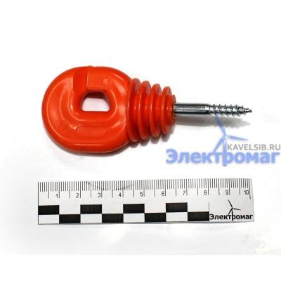 Кольцевой пластиковый изолятор оранжевый