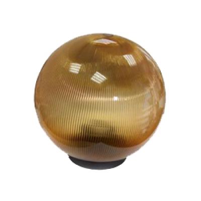 Уличный светильник-шар 350мм золотая огранка