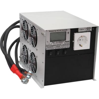 Преобразователь напряжения ИС1-24-4000 DC-AC с ЖК индикатором инвертор
