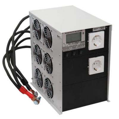 Инвертор ИС1-24-6000 DC-AC с ЖК индикатором