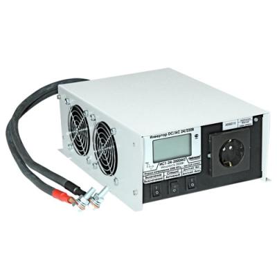 Инвертор ИС1-24-2000 DC-AC с ЖК индикатором